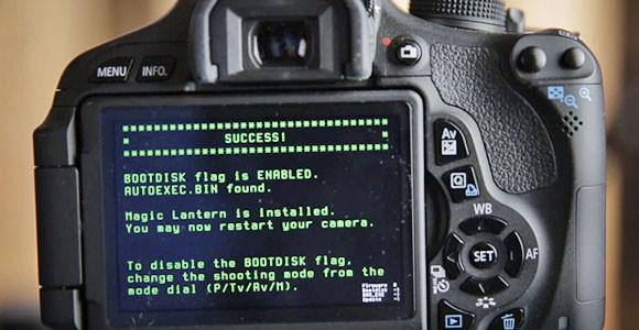 Magic Lantern для Canon 600d инструкция - фото 5